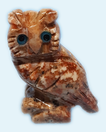 Soapstone Owl Carving