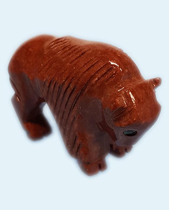 Soapstone Buffalo Carving
