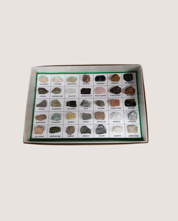 35 piece rock and mineral collection