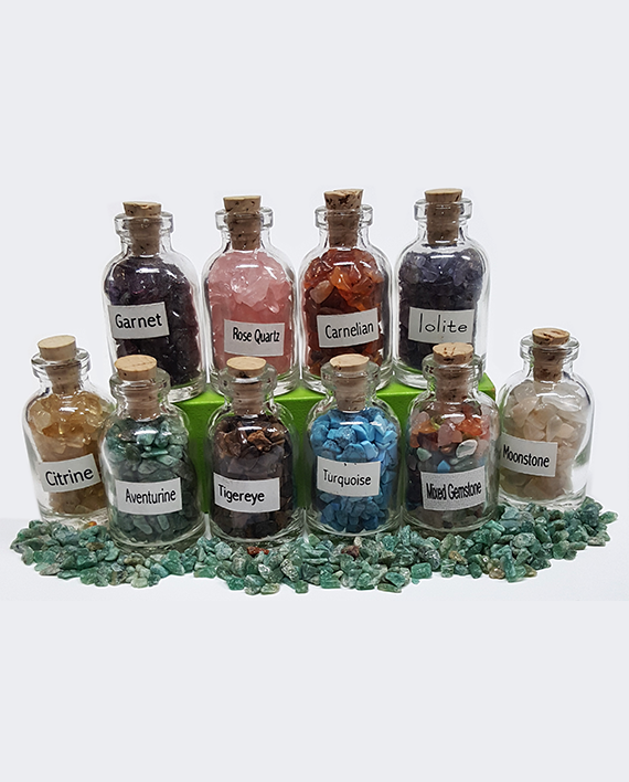 Bottles of Gemstones