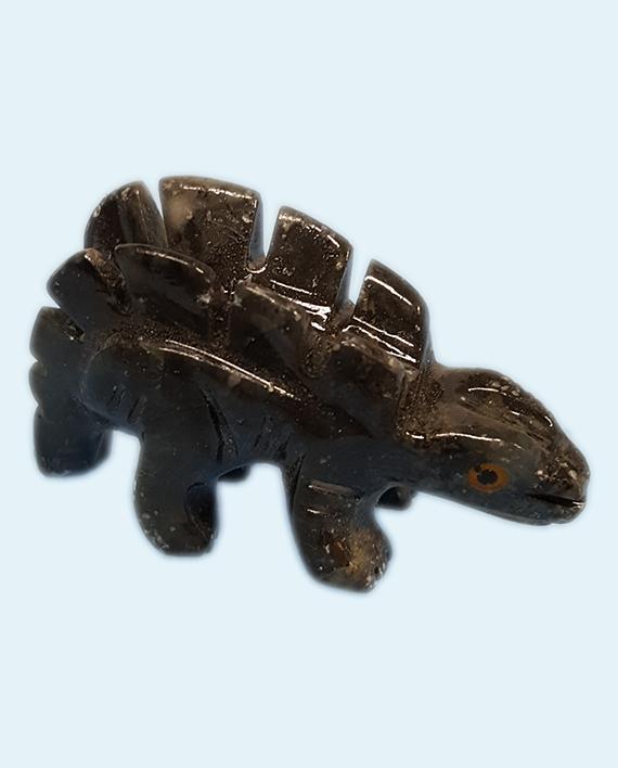 Soapstone dinosaur stegosaurus hand carved